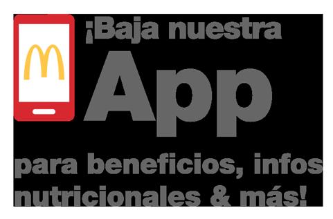 Baja nuestra app para beneficios, info nutricionales & más